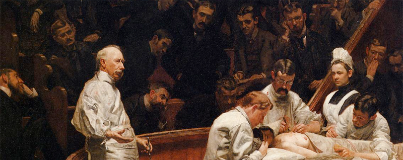 """The Agnew Clinic"" (1889), Thomas Eakins."