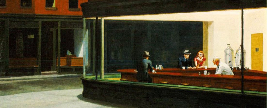 """Nighthawks"" (1942) by Edward Hopper."