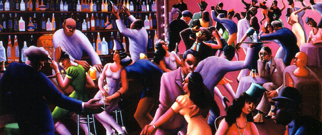 "Archibald J. Motley, ""Nightlife"" (1943)."
